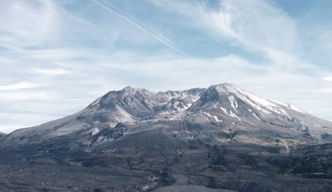 The view of Mt. St. Helens from Johnston Ridge Observatory
